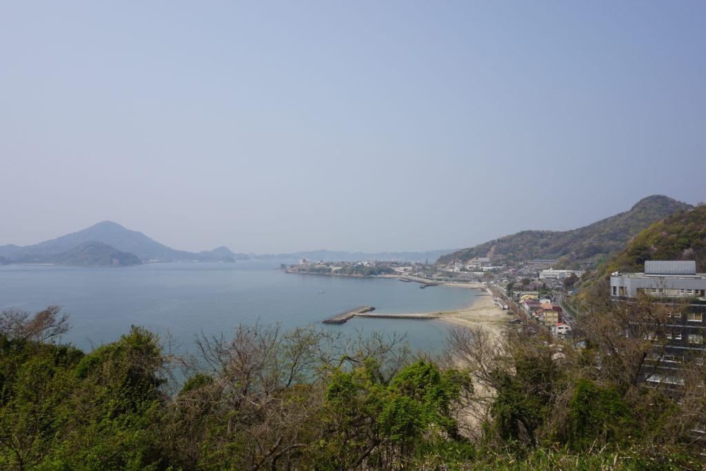 湊山城景色